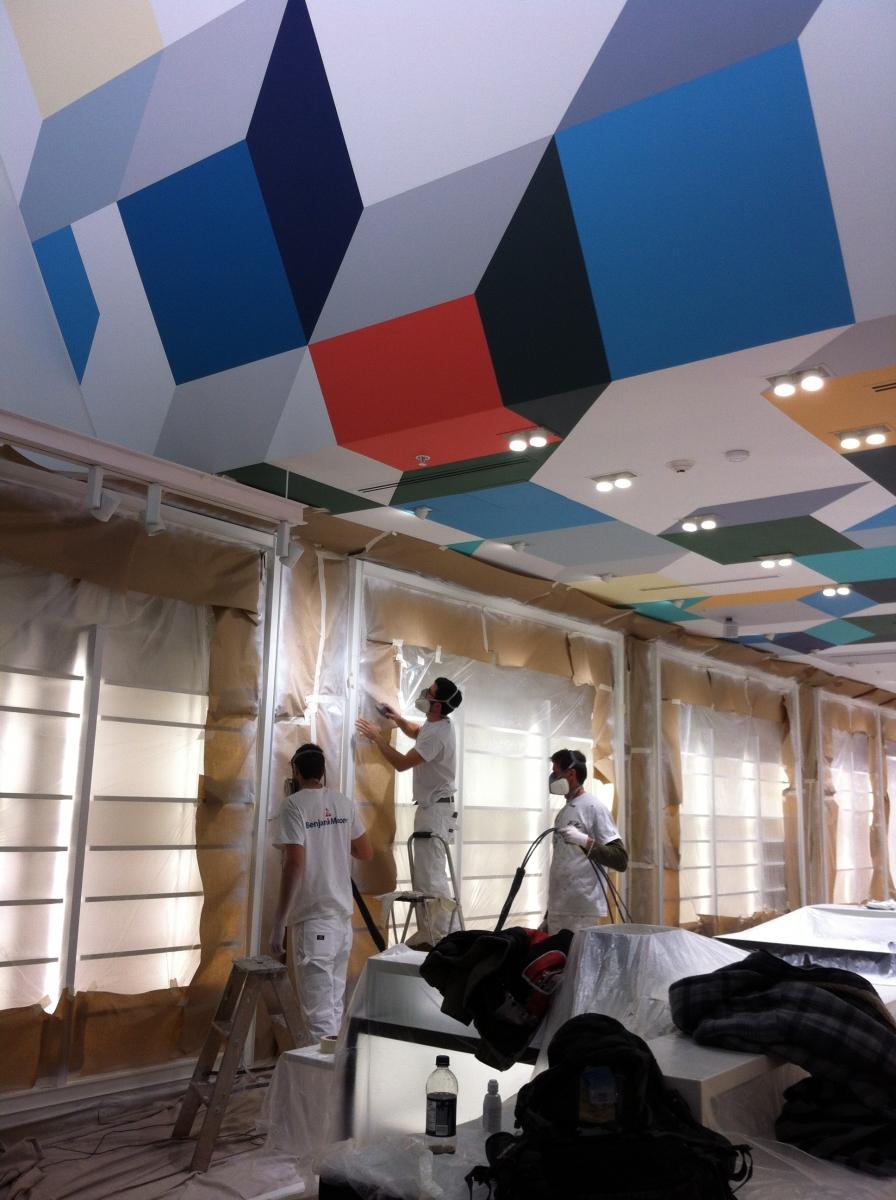 Galerie de photos peinture montreal for Panneau exterieur restaurant