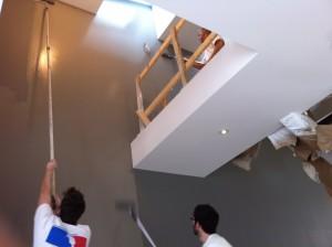 Des peintres plus rapides que leur ombre peinture montreal for Astuce peindre cage escalier