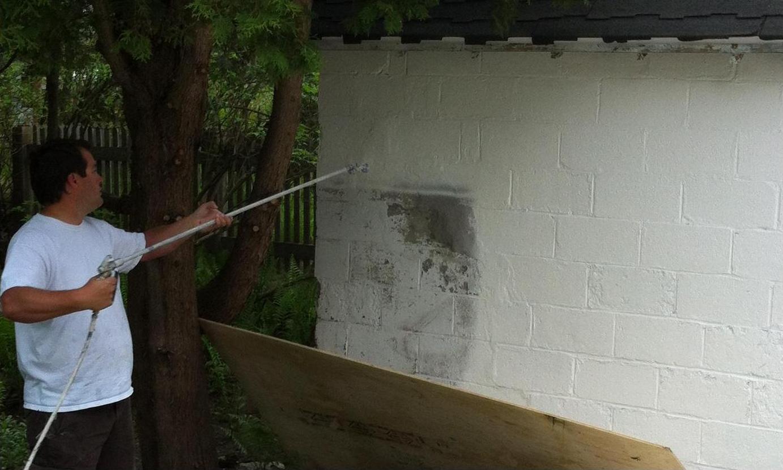 Peinture et teinture de briques peinture montreal for Platrer un mur interieur